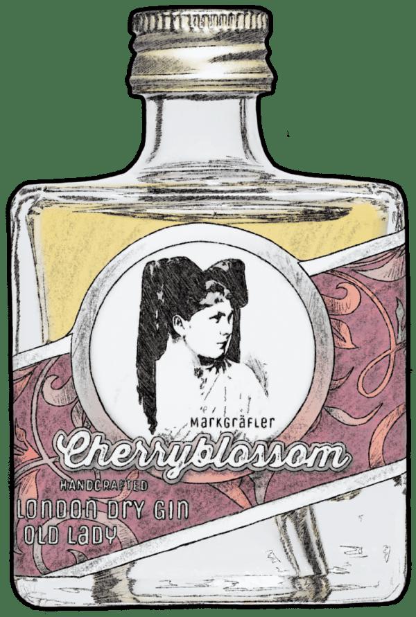 Cherryblossom London Dry Gin Old Lady klein crop