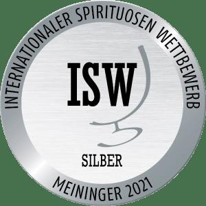 Silbermedaille Internationalen Spirituosen Wettbewerbs Meininger 2021